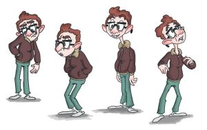 cool nerd character by brien-likes-cartoons