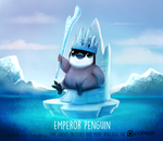 Daily Paint 1475. Emperor Penguin by Cryptid-Creations