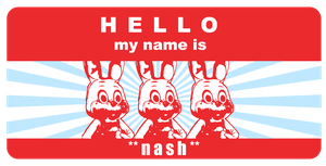 hallo, my name is NASH by Fourthy