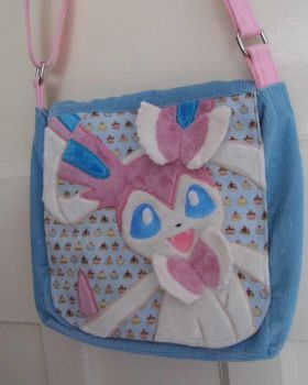 Handmade Sylveon shoulder bag by angelberries