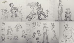 Some Yogscast doodles by RatherPeculiar