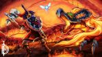 The Flame of Doom - Battle against Volvagia! by DawnbreakerDESIGNS