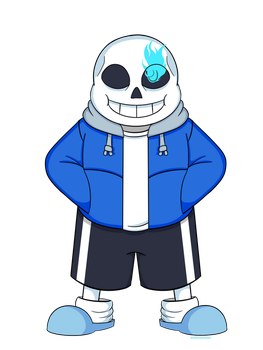 Sans: No glow by Mad-Hattress-Ari