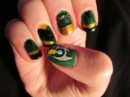 Loki Nails by QueenAliceOfAwesome