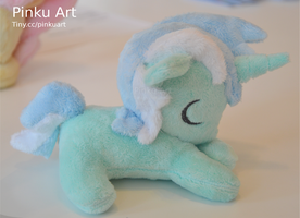 Sleeping Lyra Heartstrings filly plush by PinkuArt