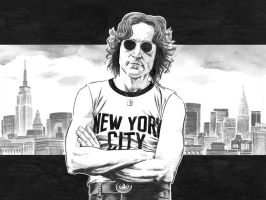 lennon in nyc by csmithart