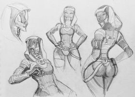 sketches Tali (135) by spaceMAXmarine