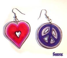 Love and Peace Earrings by Shadsie