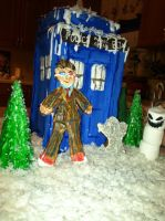 TARDIS and Tenth Doctor Gingerbread by monstermelissa