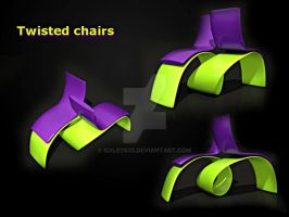 twisted chairs by koleos33