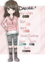 Original Character Ref - Dae by faintlaughter