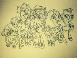 The Power Ponies! by Amethyst-City