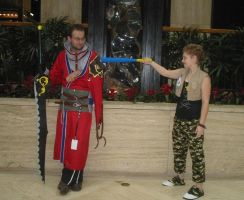 Cosplay Check:Auron and Hayner by Rhythm-Wily