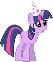Sad Twilight in a Hat by DawnMistPony