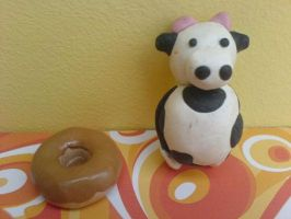 Mmm donut...and cow by WackyRacky