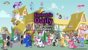 EquestriaDaily 100th Wallpaper Compilation by iReever