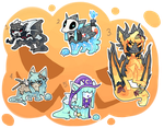 Halloween slimerock pup auction batch by puqqie