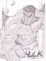 Hulk Sketch Shot by StevenSanchez