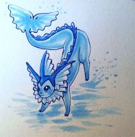 Vaporeon by FluffyFluffs