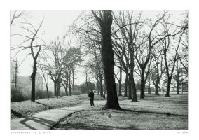 Loneliness in a park by ESDY
