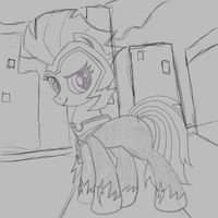 Commission: The ZAP Shadowbox Sketch. by The-Paper-Pony