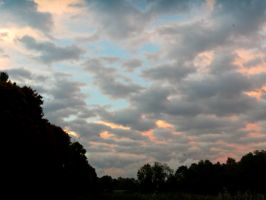 Grey Clouds - Pink Background by Michies-Photographyy