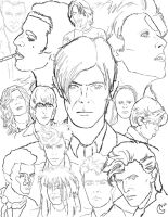 ChangesBowie Poster -lineart- by silvermoon822