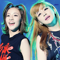2NE1 - Dara and Bom by anna06i