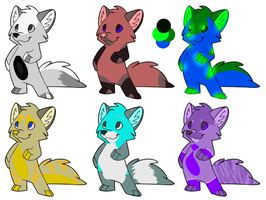 Canine adoptable batch 1 by TWDAdoptables
