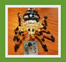 a spider made of beads by MrsEfi
