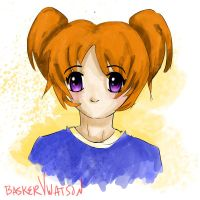 Girl with orange Hair by baskervwatson