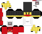 Ninjago Nya Cubeecraft template by lovefistfury