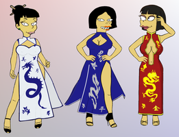 Chinese Dresses by paulibus2001