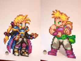 Perler Beads CSW Edgar and Sabin/Mash Figaro by kiskekokanut
