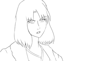 Ryougi Shiki Lineart by DeadlyObsession