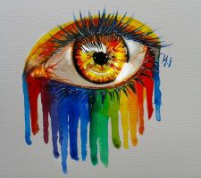 Rainbow eye by kajunixxD