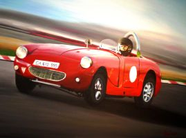 the little red racer by minikikiart