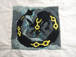 Rayquaza Pillow WIP 3 by xXRaivenWingsXx