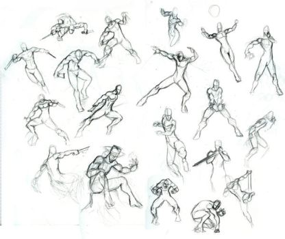 Male Action Poses 01 by Chilord
