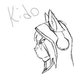 Kage pro sketch- Kido by wolftail1999