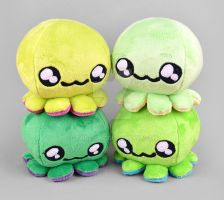Green Octopus Plush Collection by SewDesuNe