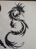 Tribal Dragon by itakepeopleswhits