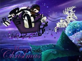 Merry Goth Christmas by Kussen-Dunkel