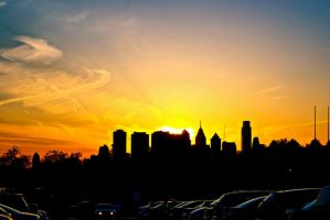 Skyline Sunset by ryguylovesbacon