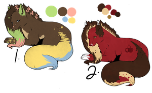 scene Wolf/Fox point Adopts (Open!) by Yumao-Adopts