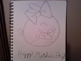 Angry Birds Girl Red Bird Sketch (Mother's Day) by MichaelPerrone