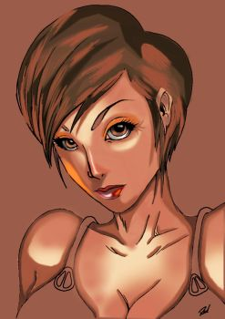 My Artgerm Attempt By The Red Allen-d4p8lna by abarablue