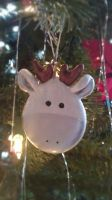 white deer ornament by ColleensCritters