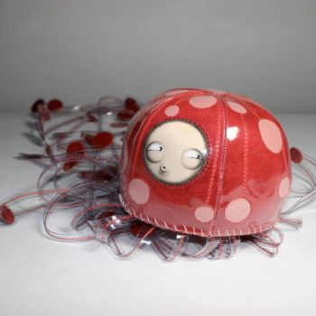 red jellyfish by curster