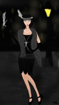 20's Flapper - Cecily by Leasaurus12